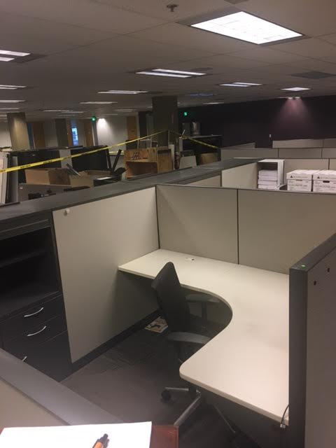 Allsteel Cubicles W Built In Storage Cabinets Office