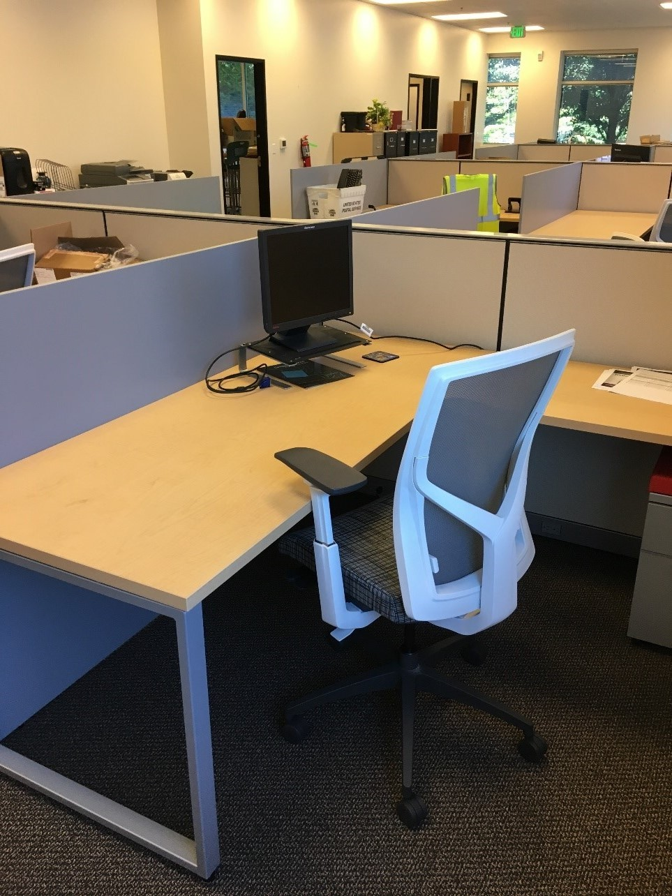 Maple Loop Leg Cubicles Office Furniture Direct